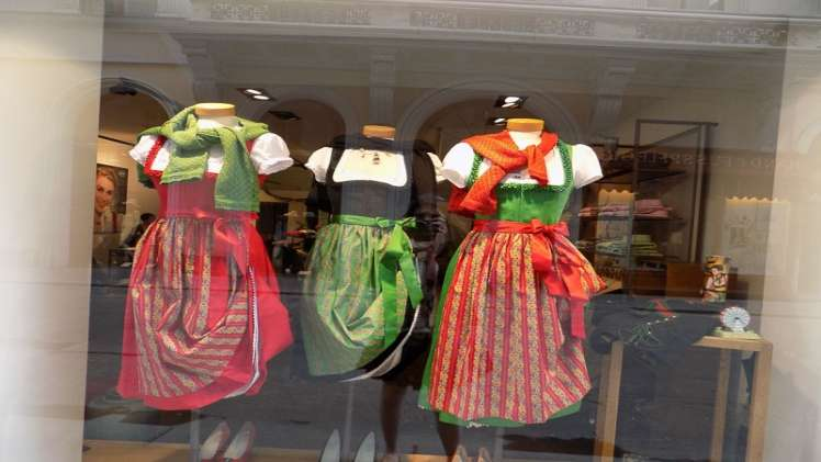 2 TRADITIONAL DRESSES FROM SEPARATE PARTS OF EUROPE2