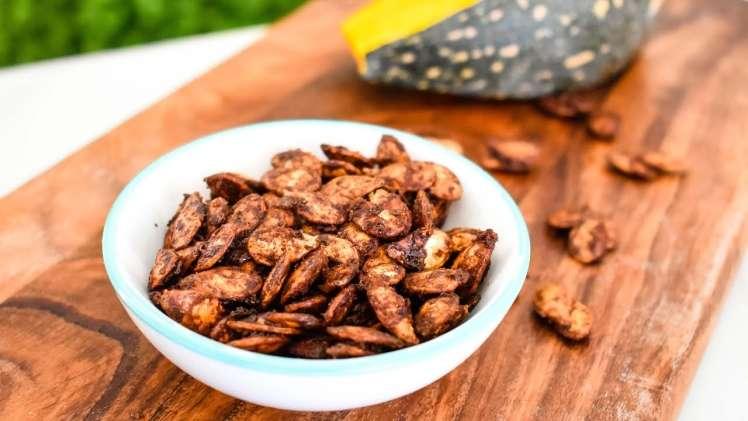 Healthy snacks sweet pumpkin seeds