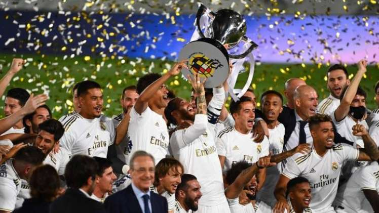 The 2020 La Liga title in the hands of Real Madrid