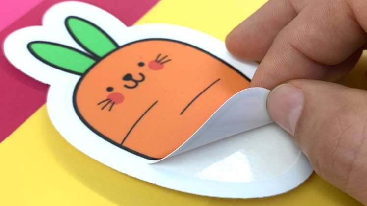 What is a kiss cut sticker