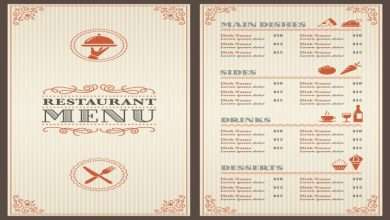 Creative Food Menu Designs for Restaurants