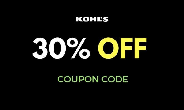 kohls 30 coupon code